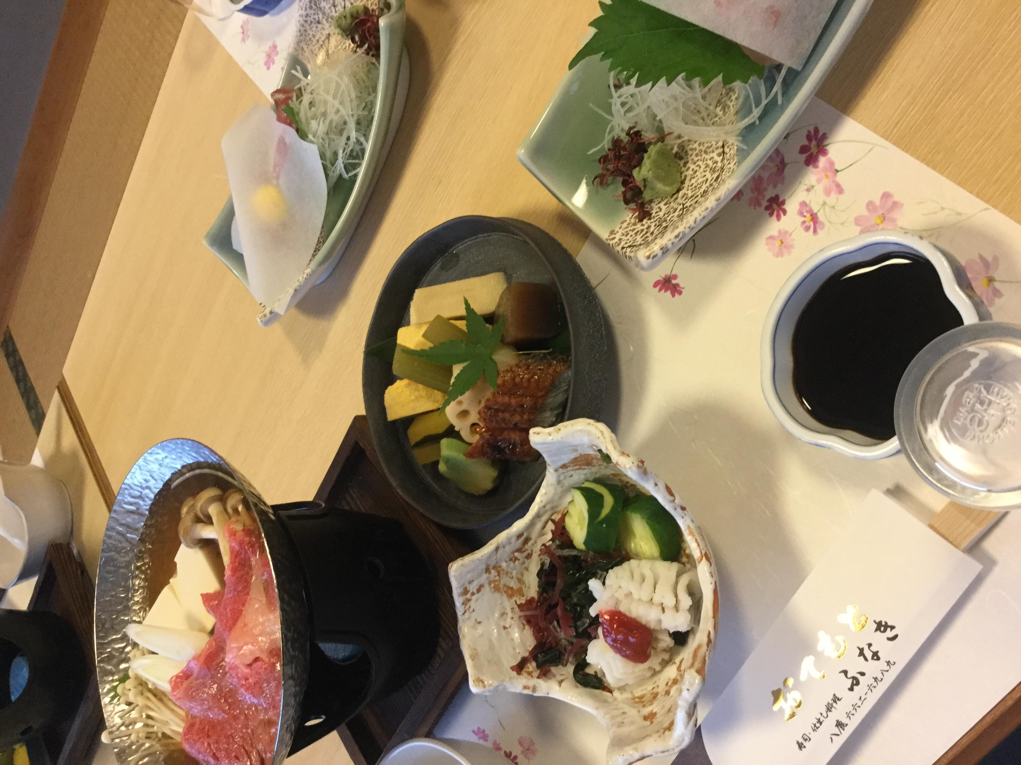 養父市の寿司屋「ふなき 」で法事料理の会席例
